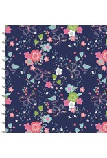 3 Wishes Fabric Hello Spring - Garden Navy