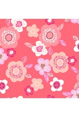 3 Wishes Fabric Hello Spring - Bloom Coral