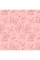 3 Wishes Fabric Hello Spring - Butterfly Coral