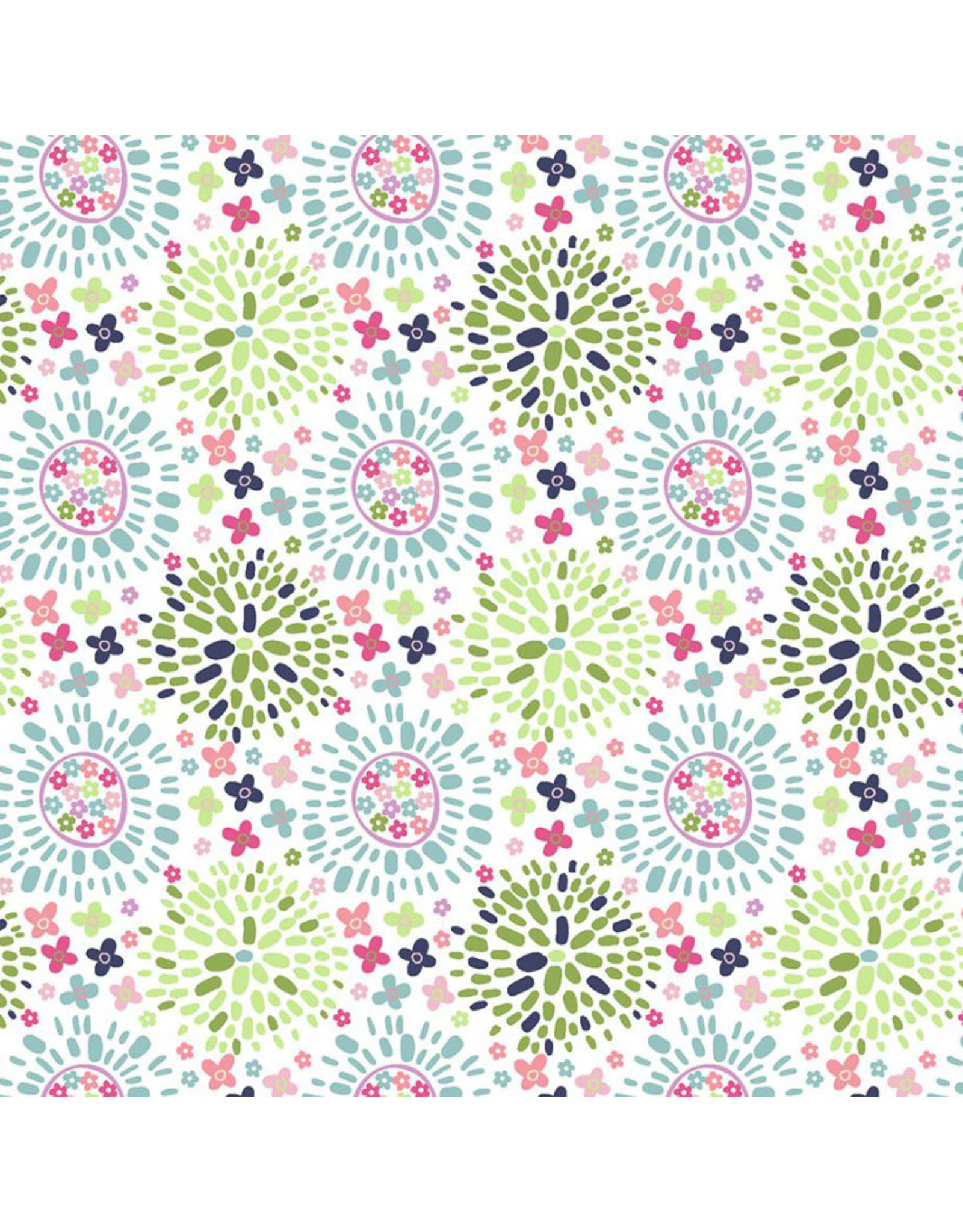 3 Wishes Fabric Hello Spring - Color Puff Multi