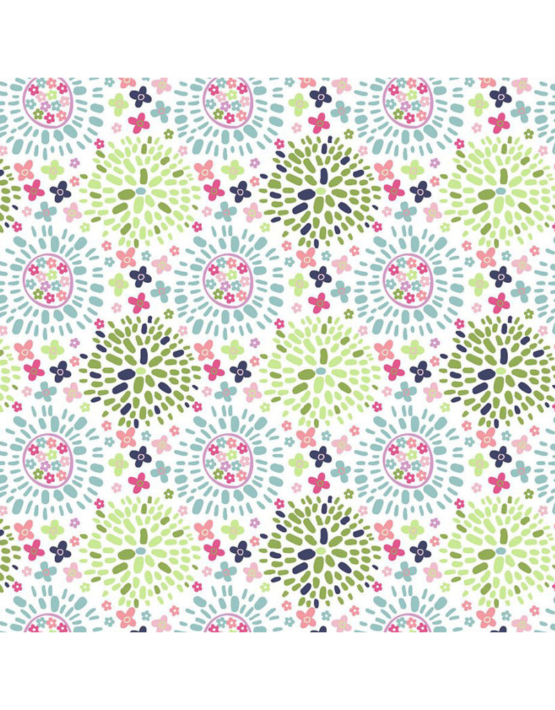 3 Wishes Fabric Hello Spring - Color Puff Multi