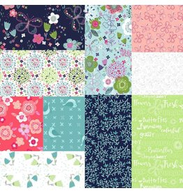 3 Wishes Fabric Hello Spring - Fat Quarter Pakket