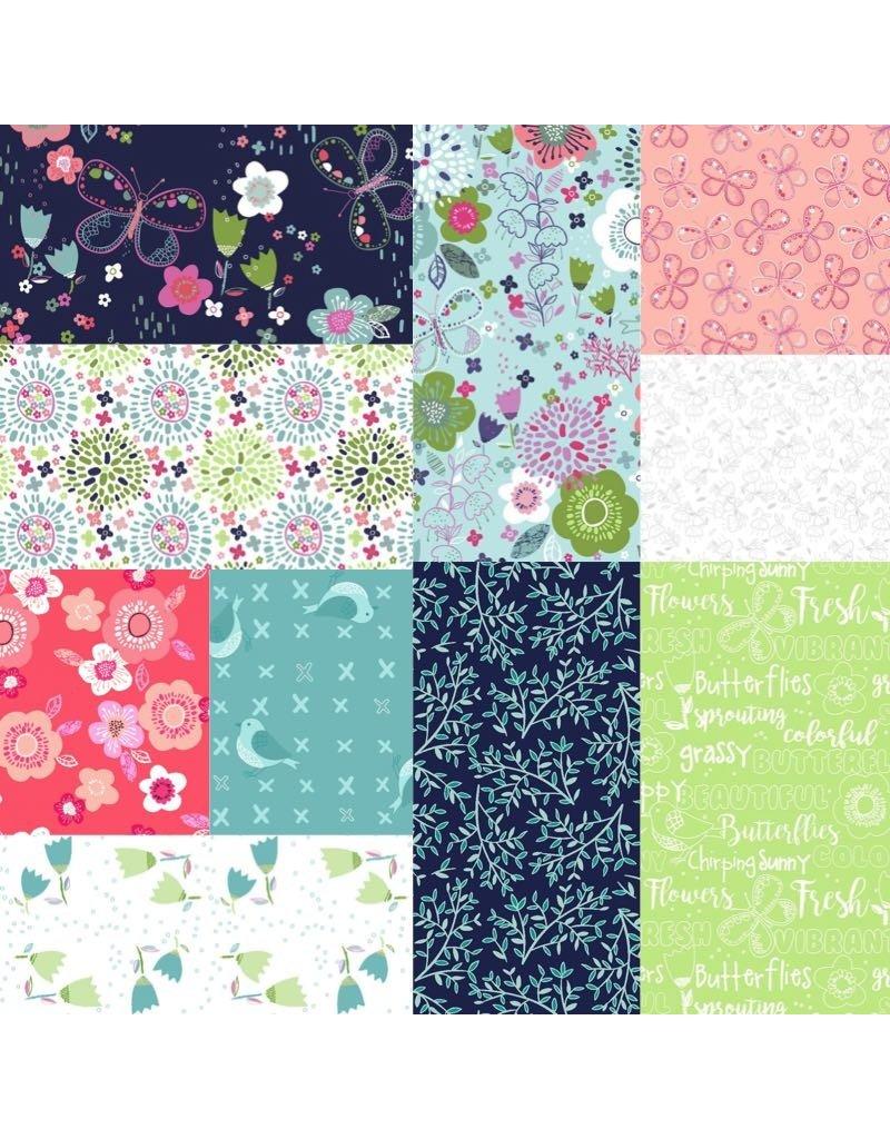 3 Wishes Fabric Hello Spring - Fat Quarter Pakket