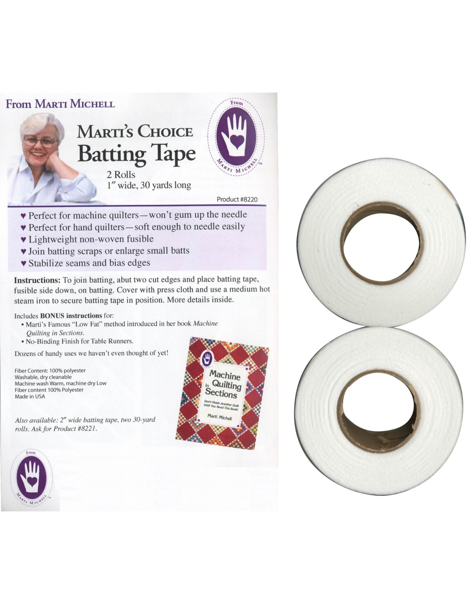 Marti's Choice - Fusible Tape - 2 x 1 inch