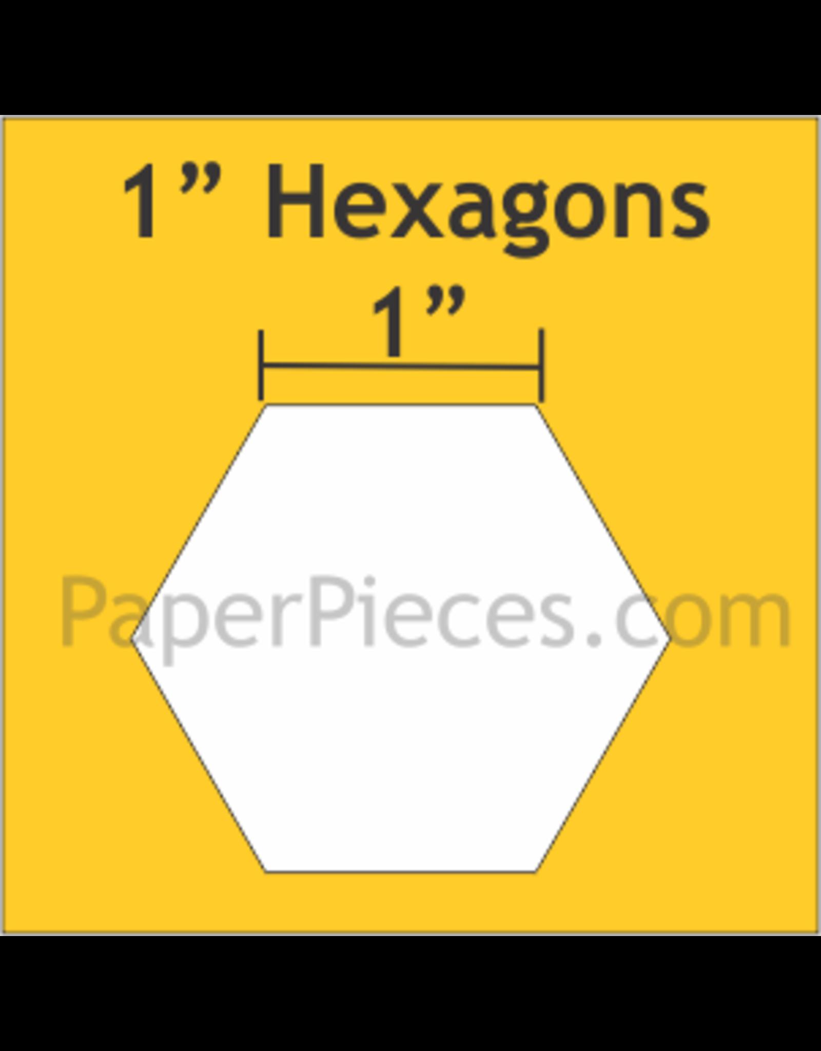 Paper Pieces 1 inch Hexagon  - 100 stuks