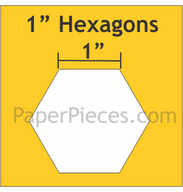Paper Pieces 1 inch Hexagon  - 100 stuks
