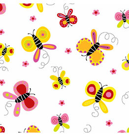 Andover Buzzin Around - Butterfly Orange Pink
