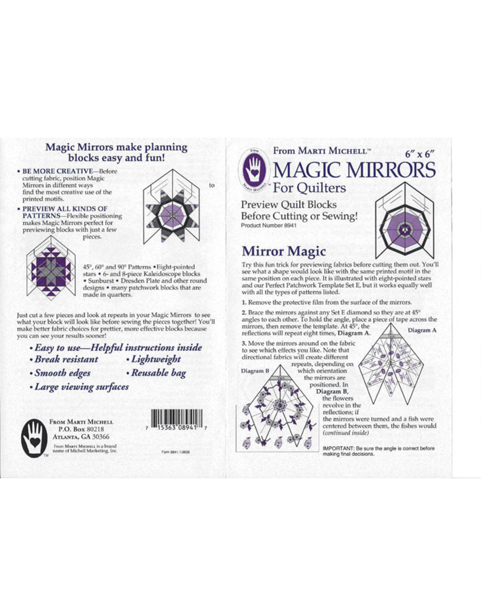 Magic Mirrors - 6 x 6 inch