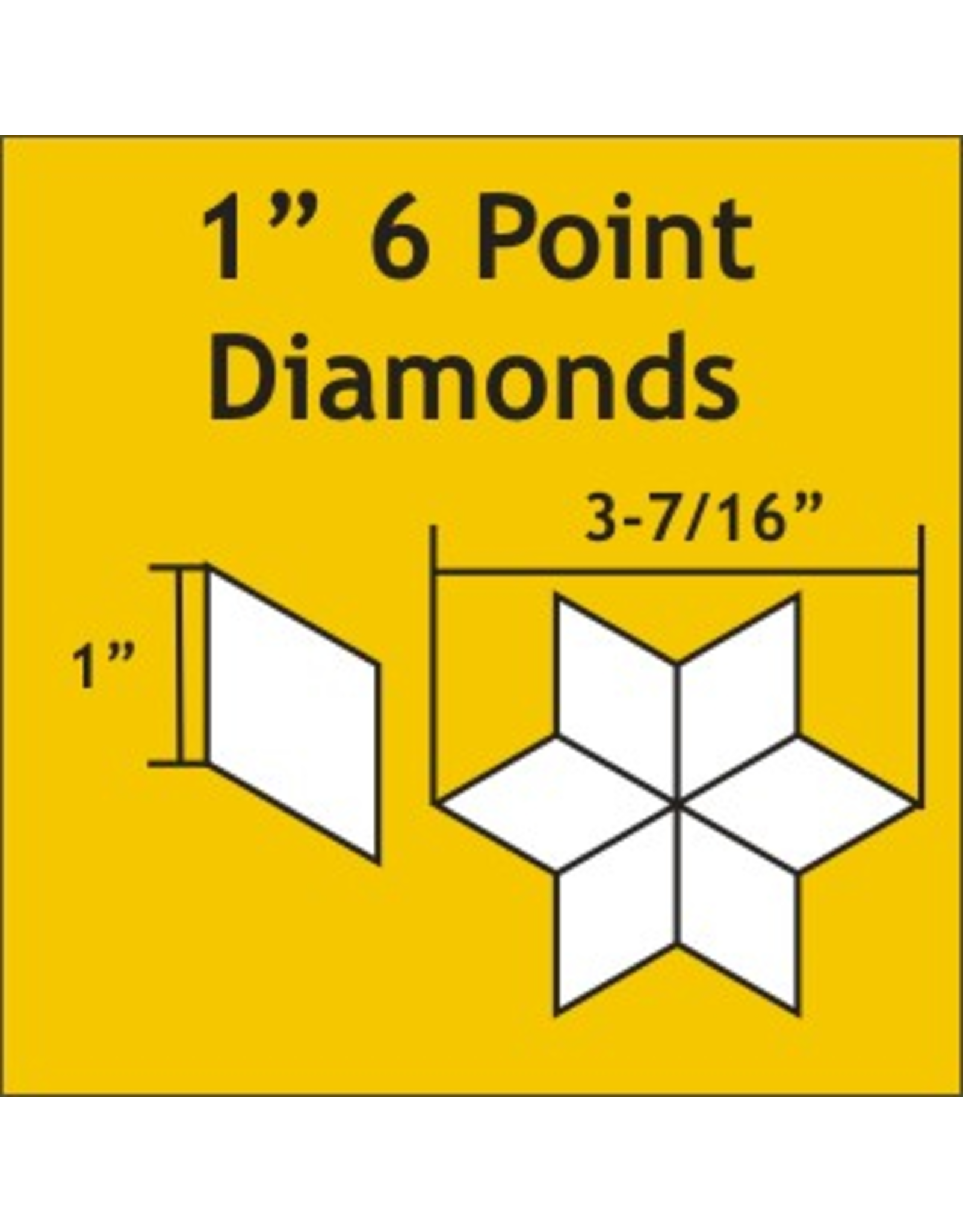 Paper Pieces 1 inch 6-point Diamond  - 75 stuks
