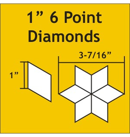 Paper Pieces 1 inch 6-point Diamond  - 75 stuks