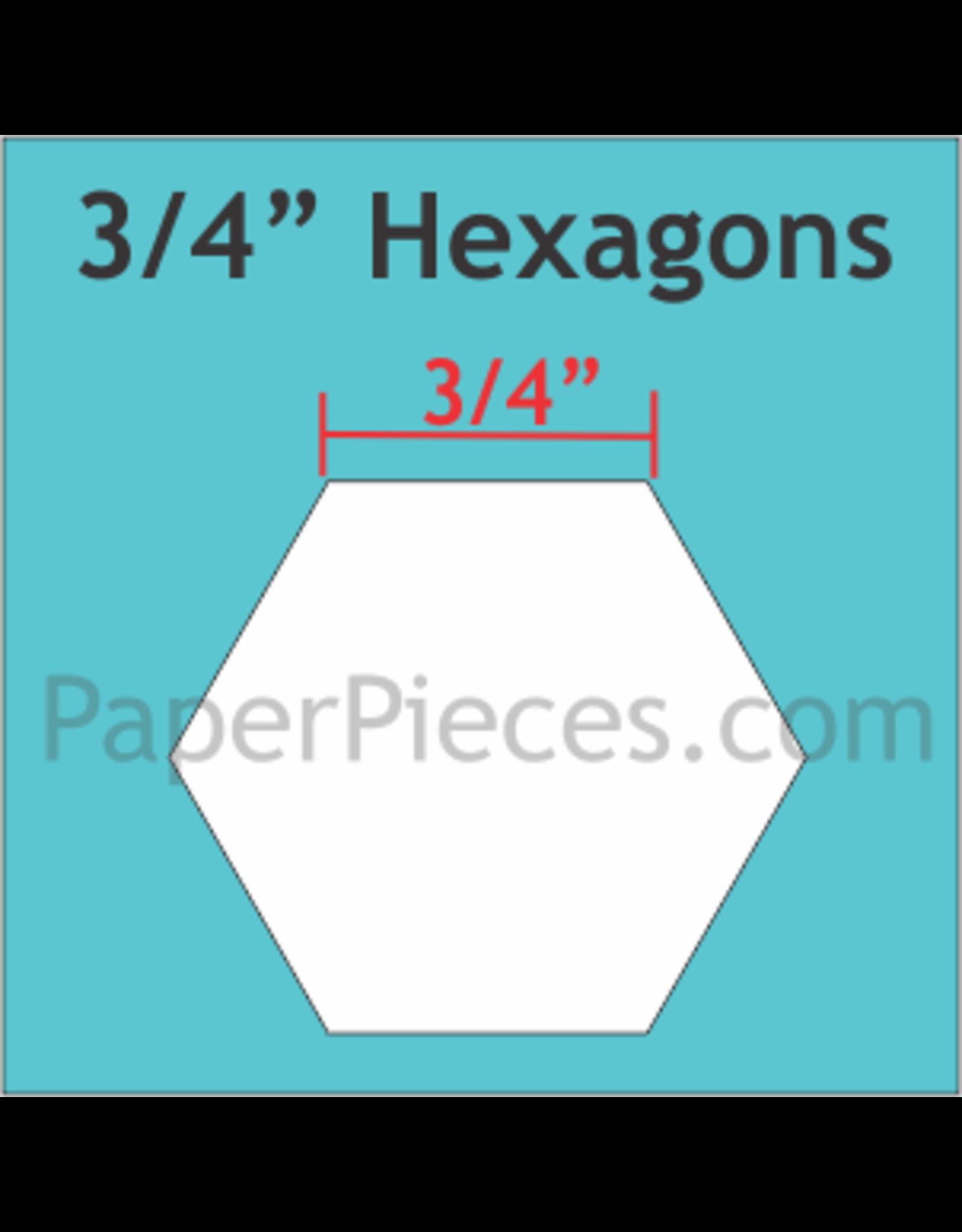 Paper Pieces 3/4 inch Hexagon  - 125 stuks