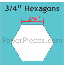 Paper Pieces 3/4 inch Hexagon  - 125 stuks