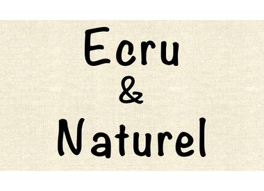 Ecru en naturel stoffen