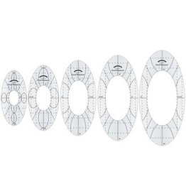 Amanda Murphy - Good Measure Quilting Template - Every Oval Set