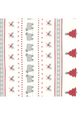 Moda Country Christmas - Christmas Stripe White