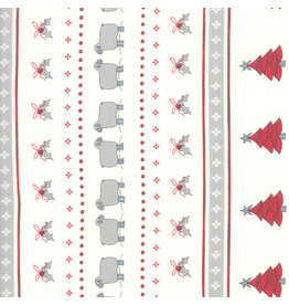 Moda Country Christmas - Christmas Stripe White