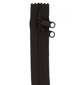 By Annie Handbag Zipper - 30 inch / 76 cm - double slide - Black