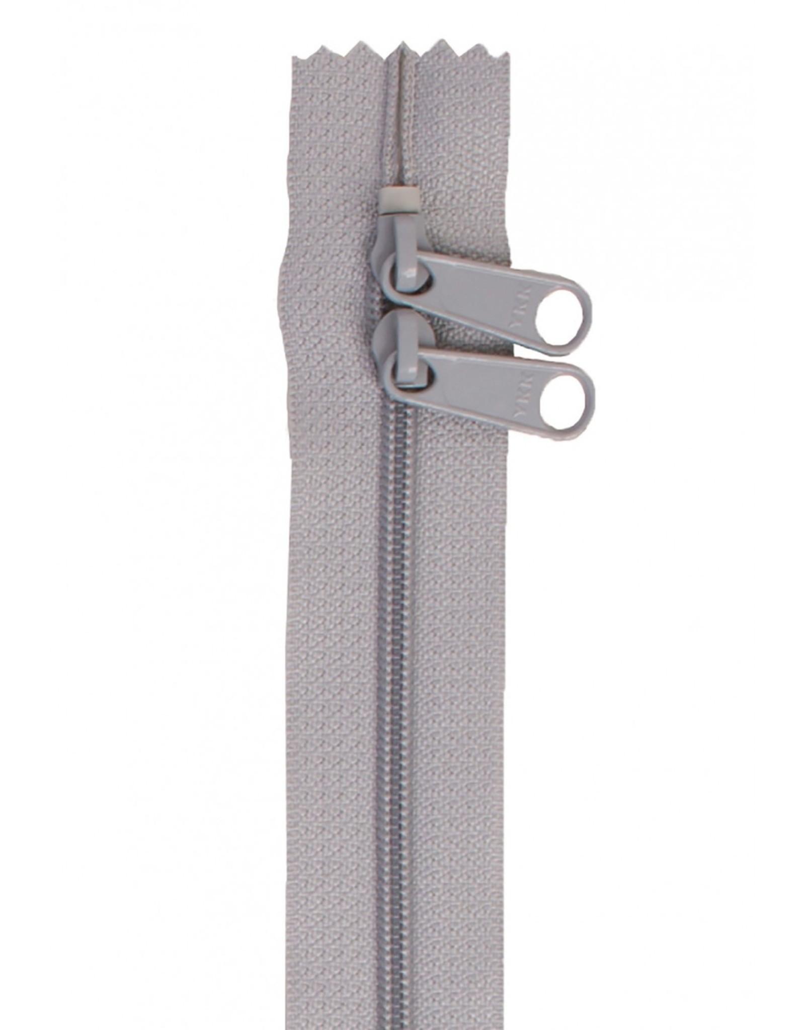 By Annie Handbag Zipper - 30 inch / 76 cm - double slide - Pewter