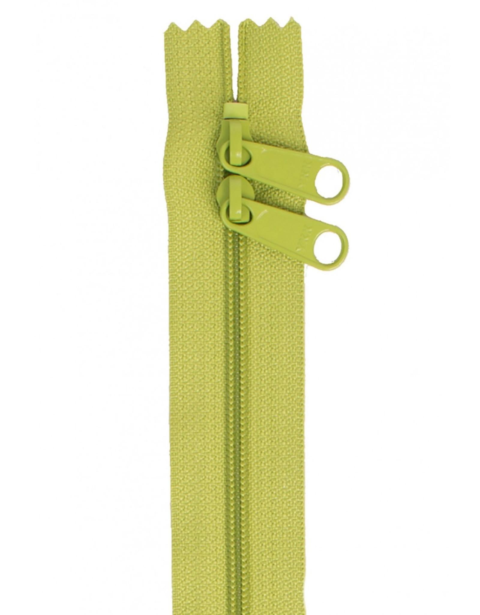 By Annie Handbag Zipper - 30 inch / 76 cm - double slide - Apple Green