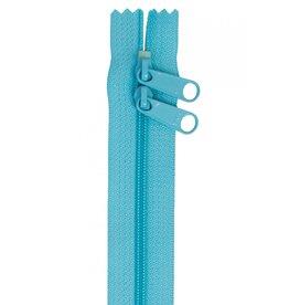 By Annie Handbag Zipper - 30 inch / 76 cm - double slide - Parrot Blue