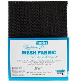 By Annie Mesh Fabric - 18 x 54 inch - Black