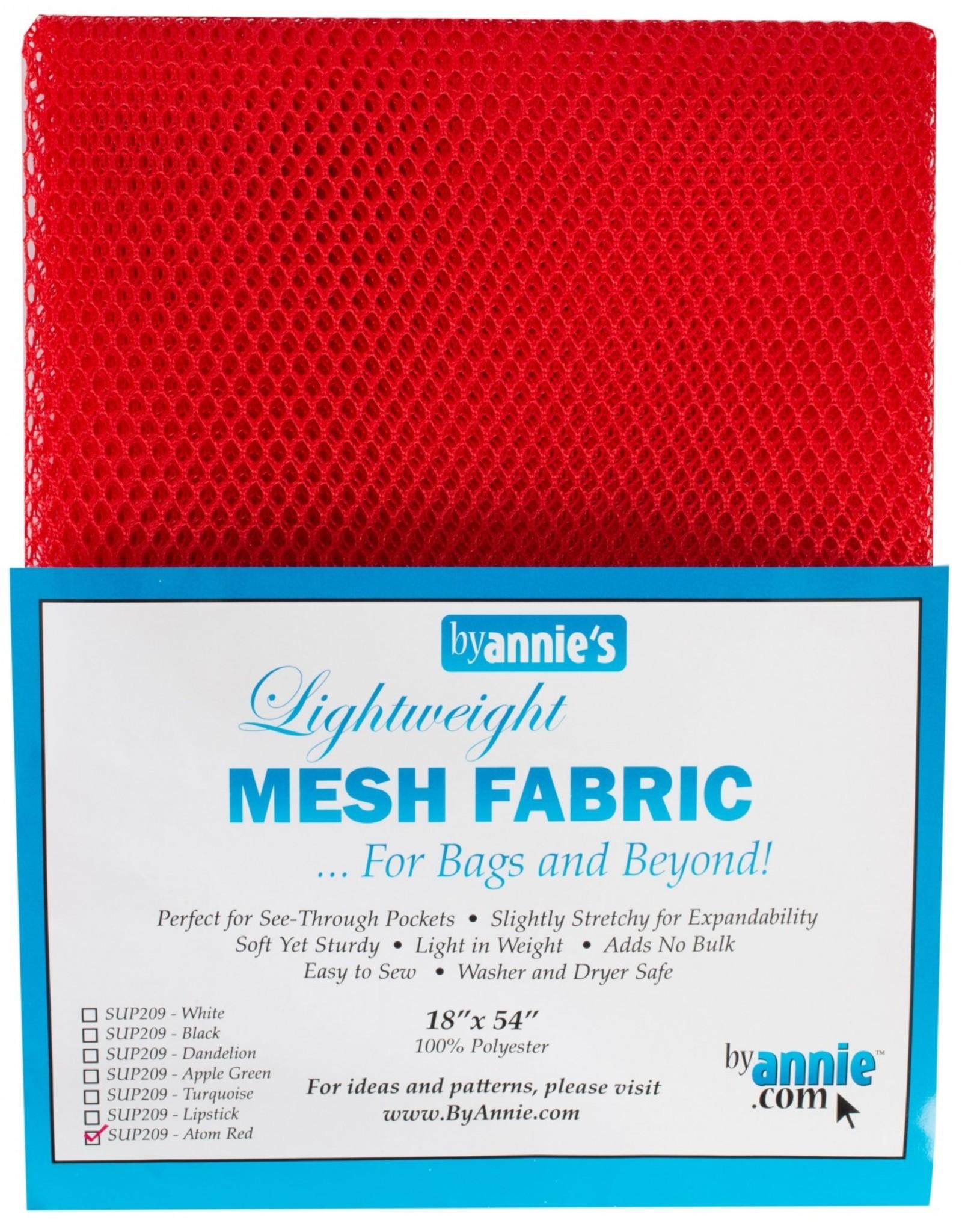 By Annie Mesh Fabric - 18 x 54 inch - Atom Red