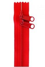By Annie Handbag Zipper - 40 inch / 101 cm - double slide - Atom Red