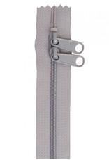 By Annie Handbag Zipper - 40 inch / 101 cm - double slide - Pewter