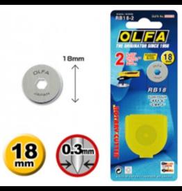 Olfa Olfa reservemes 18 mm - 2 stuks