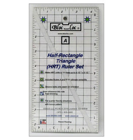 Bloc Loc Half Rectangle Triangle Ruler Set - HRT 2:1 Large - 4,5 x 8,5 inch