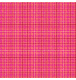 Contempo Warp & Weft - Multi Plaid Hot Pink - fat quarter