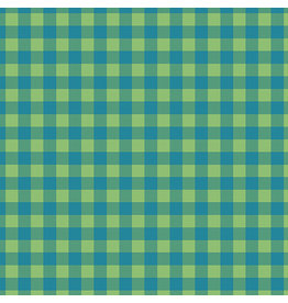 Contempo Warp & Weft - Check Plaid Blue/Green - fat quarter