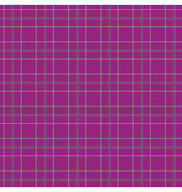 Contempo Warp & Weft - Doubleplaid Magenta - fat quarter