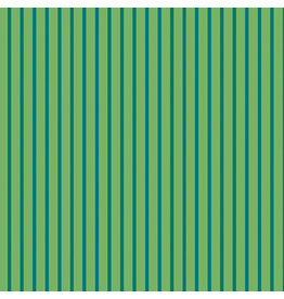 Contempo Warp & Weft - Stripe Green - fat quarter