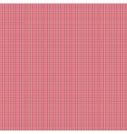 Contempo Warp & Weft - Tiny Plaid Pink - fat quarter