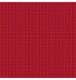 Contempo Warp & Weft - Tiny Plaid Red - fat quarter