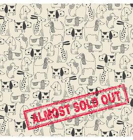Makower UK A Walk in the Park - Dogs Outline Cream