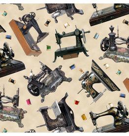 Elizabeth's Studio A Stitch in Time - Sewing Machines Cream