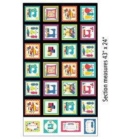 Kanvas Studio Sew Excited - Boxes Multi - Panel