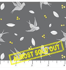 Northcott Sew Sweet - Swallows Dark Gray