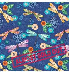 Wilmington Floral Flight - Dragonfly Blue