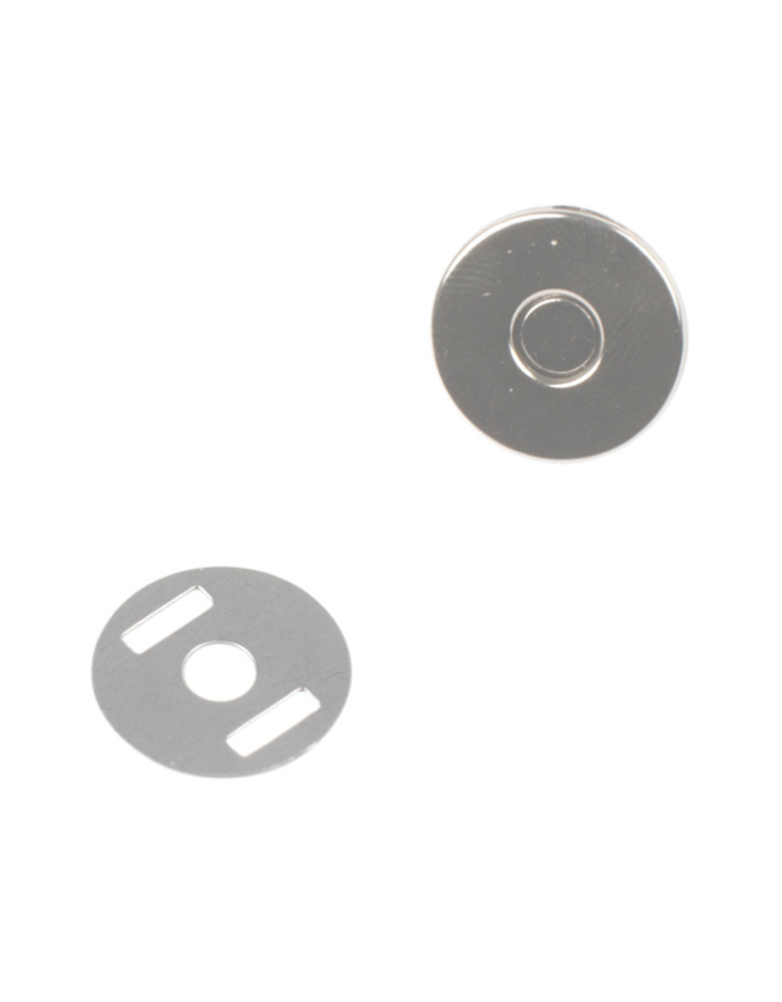 Bohin Magnetic Snap Silver - 14 mm