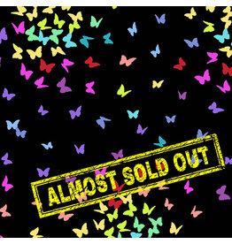 Andover Rainbow Sprinkles - Butterflies Black