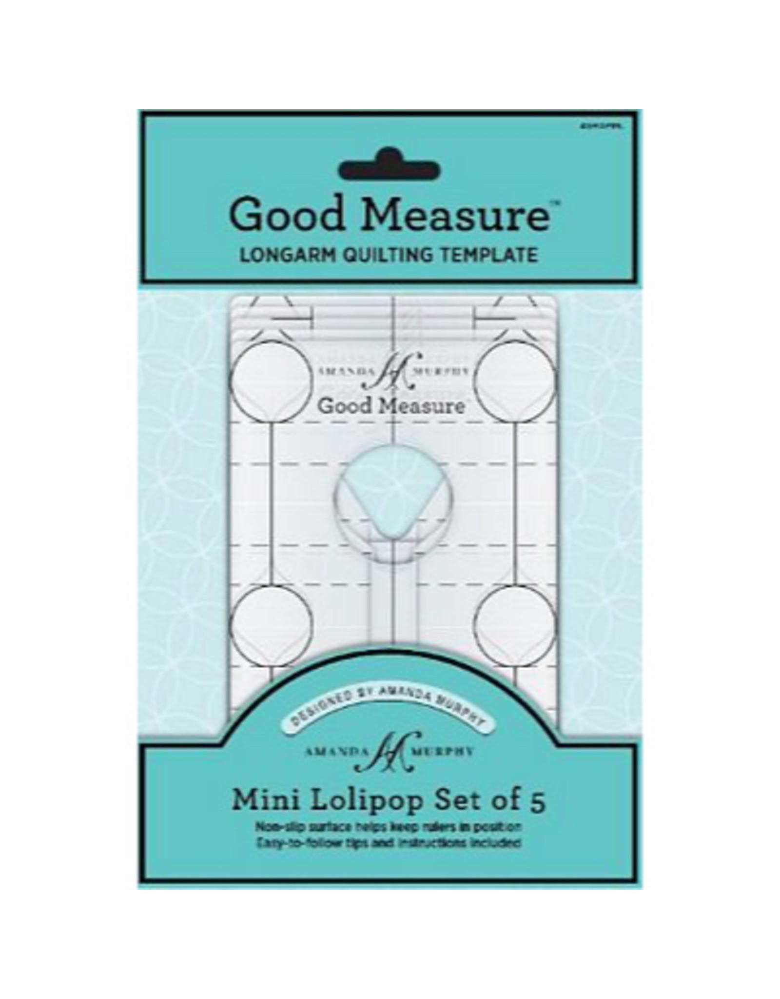 Amanda Murphy - Good Measure Quilting Templates - Mini Lollipop Set