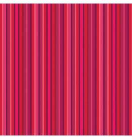 Contempo Warp & Weft 2 - Red Stripe Red