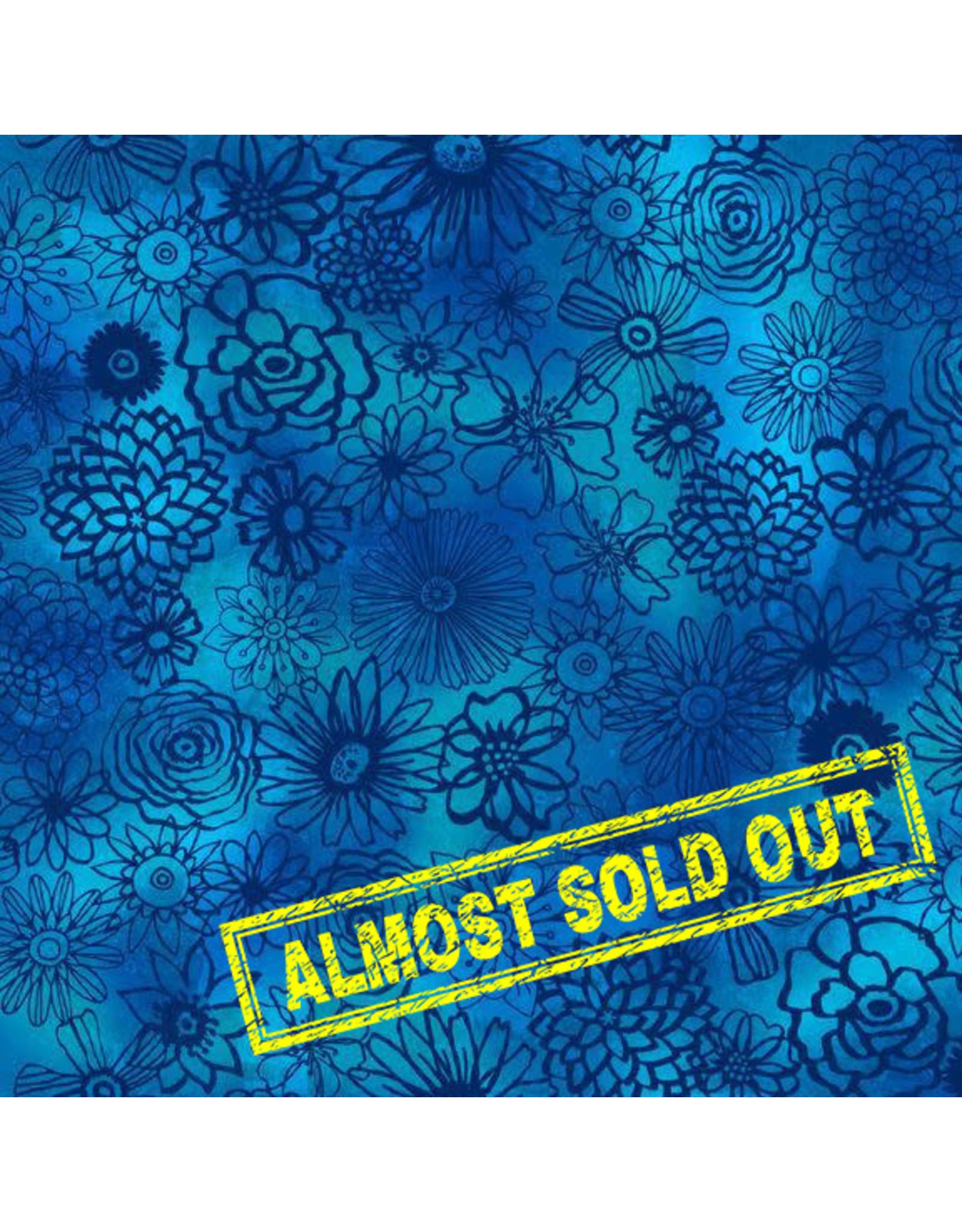 Wilmington Floral Flight - Floral Outline Dark Blue