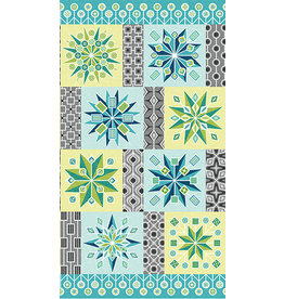 Benartex Cotton Shot Harmony - Lollipop Blocks Aqua - 60 cm