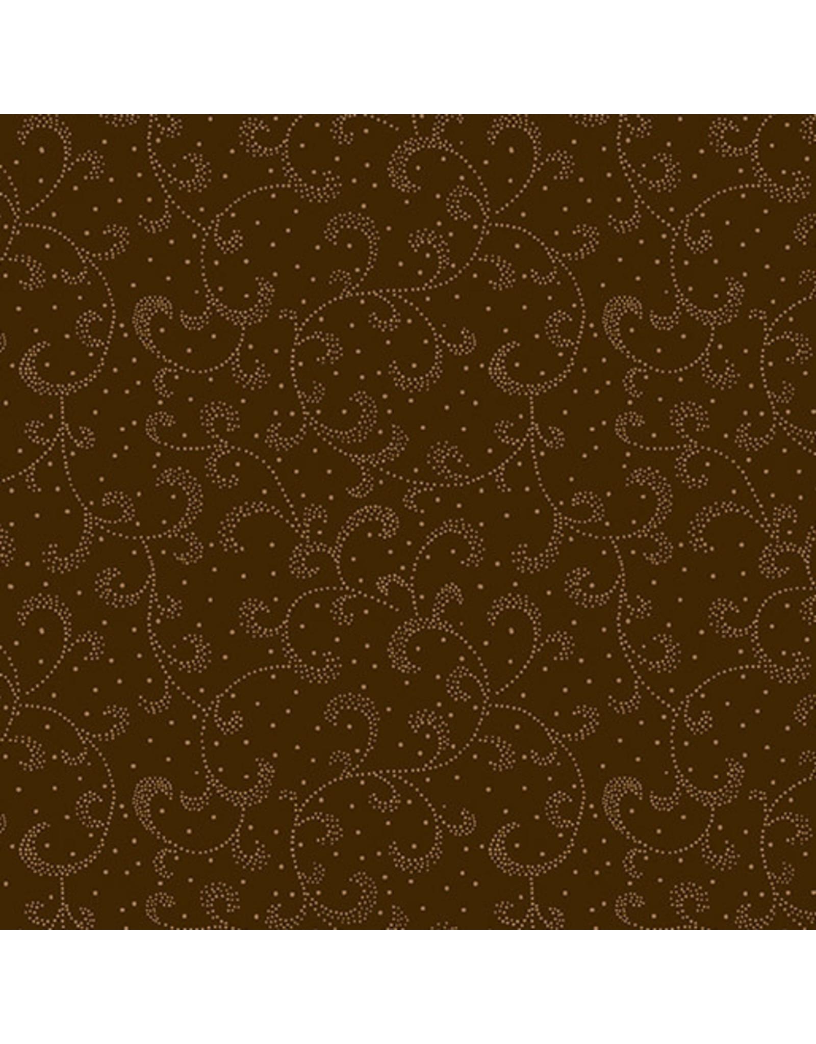 Kanvas Studio Swirling Scroll - Chestnut Brown