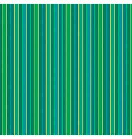 Contempo Warp & Weft 2 - Green Stripe Green