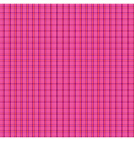 Contempo Warp & Weft 2 - Tiny Plaid Bright Pink